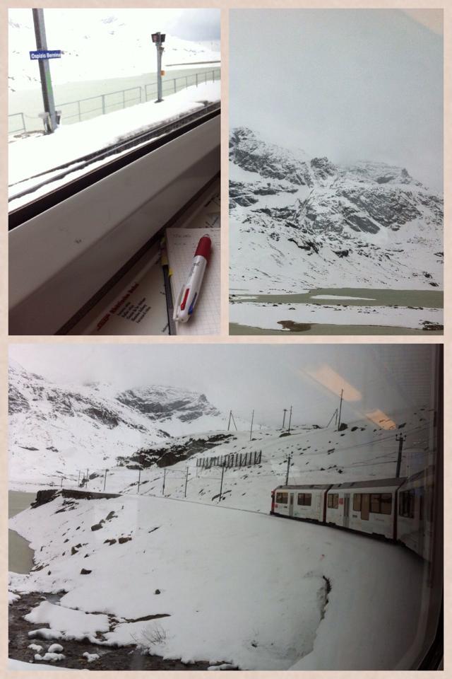 雪のOspizio Bernina